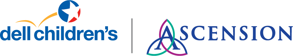 Dell Children's logo; Ascension logo