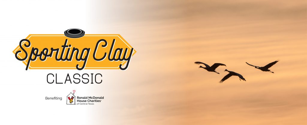 Sporting Clay Classic Logo, birds flying in the sky