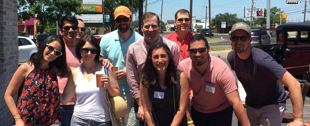 Young professionals socialize and fundraise for RMHC CTX at an Austin restaurant.