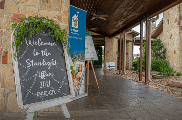 Signboard with Starlight Affair event welcome
